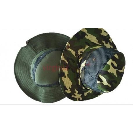 2e47ac92a Letný klobúk, zelený, maskáč, univerzálna veľkosť, materiál 100% PES,  šnúrka na zatiahnutie pod bradou a po stranách dva nity pre vypnutie.