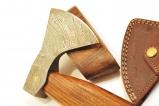 Sekerka z damaskovej ocele s kozenym puzdrom
