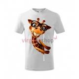 Kvalitné detské tričko s krátkym rukávom s motívom žirafy
