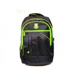 Športový ruksak čierno - zelený F177