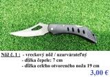 Predám nové nože - rôzne druhy
