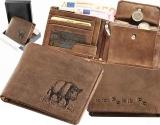 Predám koženú peňaženku-poľovnícky motív