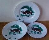 Sada ručne maľované taniere