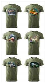 Pánske rybárske tričko s rôznymi motívmi